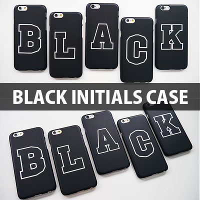 [HARD CASE]  A~Z CAN CHOICE Black Initials Hard Phone Case