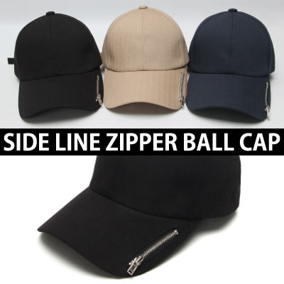SIDE LINE ZIPPER BALL CAP