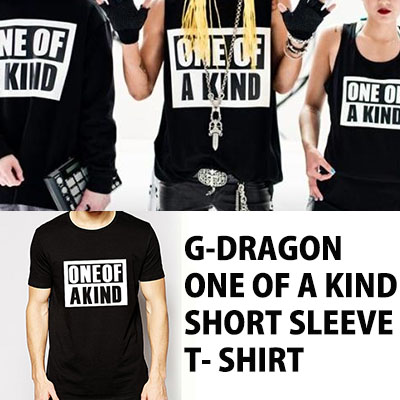 [ONE OF A KIND] G-DRAGON new products were greeted by World Tour !! ONE OF A KIND short-sleeved T- shirt