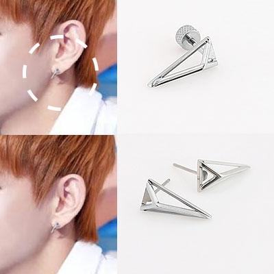 * Korea idle Fashion * Bangtan Boys BTS STYLE Multi siver earrings or earrings (2 types)