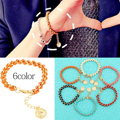 * Korea idle Fashion * VIXX style Gold Chain Bracelet (6colors)