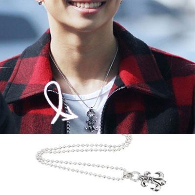 South Korea popular idol #BTS Rappumon STYLE! CHst.Silver Cross Necklace