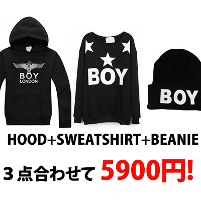 ★DAY SHIPPING★NEW ★ BOY LONDON large SALE ★ popular parka one   popular trainer one   popular knit hat one = 3 points the combined price is a whopping 5,900 yen !!! EAGLE OR BOY