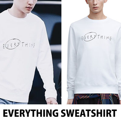 ★DAY SHIPPING★ Simple logo of BIGBANG VICTORY Sunri / EXO DO Dio style is charming everything trainer T-shirt / sweatshirt