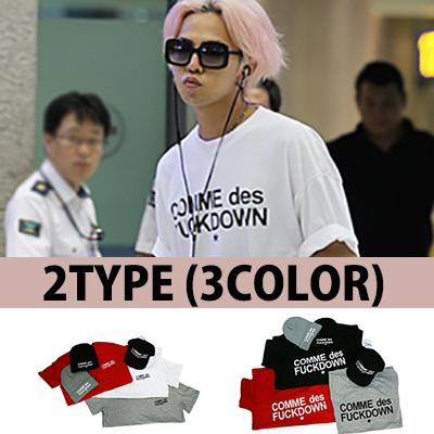 ★ discount ★ GD Style C * mme des Fuck d * WN short sleeve T-shirt (2type / 3color)