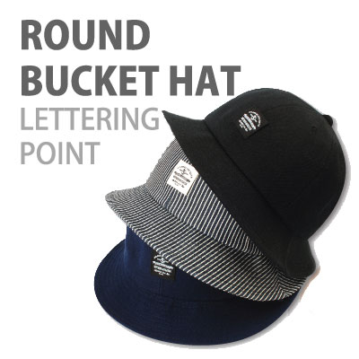 ROUND BUCKET HAT LETTERING POINT