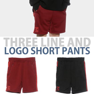 THREE LINE AND LOGO SHORT PANTS