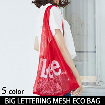 BIG LETTERING ALPHABET MESH BASIC ECO BAG