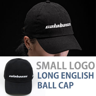 KANYE WEST st. SMALL LOGO LONG ENGLISH BALL CAP