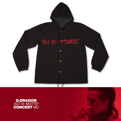 【Official Goods】[MOTTE] G-DRAGON WIND BREAKER