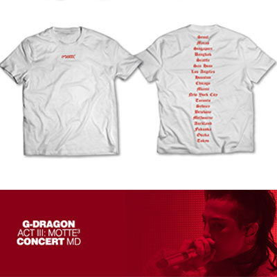 【Official Goods】[MOTTE] G-DRAGON T-SHIRTS TYPE 4(M,L,XL)