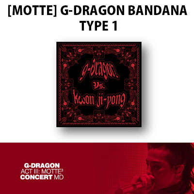 【Official Goods】[MOTTE]G-DRAGON BANDANA TYPE 1