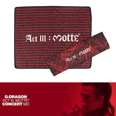 【Official Goods】[MOTTE] G-DRAGON TOWEL(BIG)