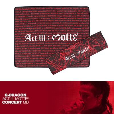 【Official Goods】[MOTTE] G-DRAGON TOWEL(BIG)