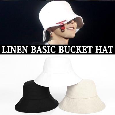 BIGBANG g-dragon/GD/LINEN BASIC BUCKET HAT