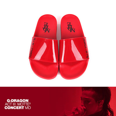 【Official Goods】[24.0~28.0cm][MOTTE][MOTTE] G-DRAGON SLIDE SLIPPER/RED