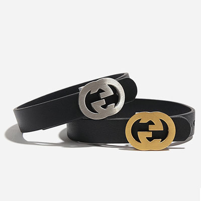 DOUBLE [G] LEATHER BRACELET