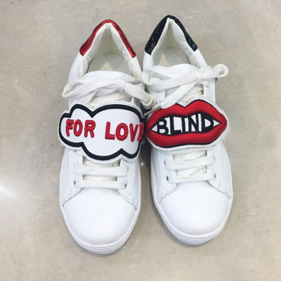 【RANG SHE】 [23.0~25.0cm]BLIND FOR LOVE WHITE SNEAKERS SHOES