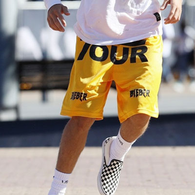 BIEBER STYLE! TOUR MESH SHORT PANTS(BLACK/WHITE/YELLOW/BLUE)