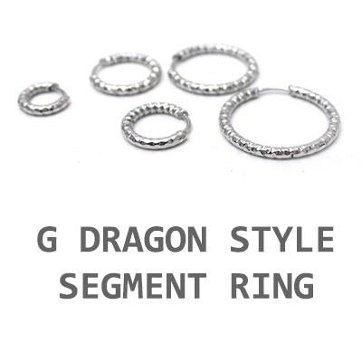 GD STYLE! SEGMENT RING EARRING(7mm~20mm)(1EA)