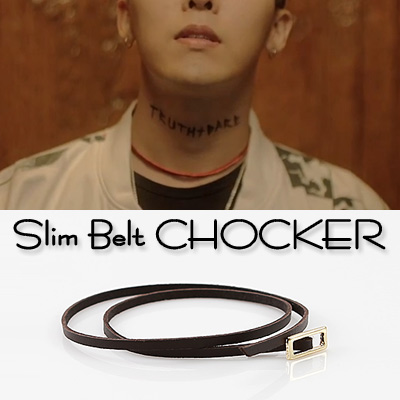 BIGBANG g-dragon/GD SLIM BELT CHOCKER