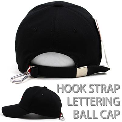 HOOK STRAP LETTERING BALL CAP