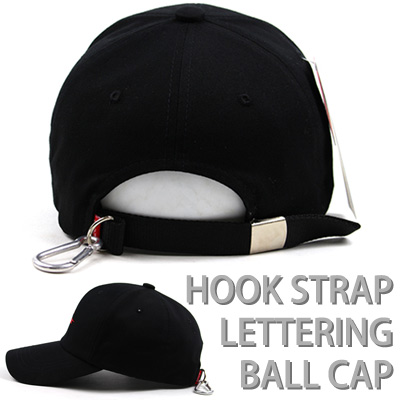 HOOK STRAP LETTERING BALL CAP