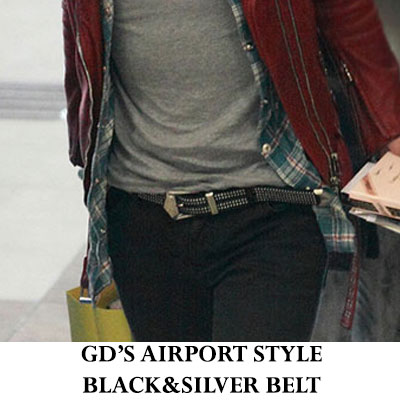 GD is worn in performance of [the year of Visit Korea] Airport Fashion and the Big Bang (BIGBANG) ★ Silver Stat belt