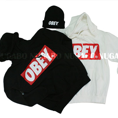 ★DAY SHIPPING★ ♪♪ HAPPY EVENT ♪♪ OBEY Parker & knit hat @ two points together ¥ 3300 !!!!! Korea fashion mail order