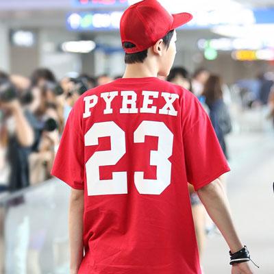 ★PROMPT DELIVERY★EXO · BIGBANG G DRAGON · 2NE1 CL favorite brand PYRE * wind basic logo plain computing short-sleeved T-shirt (3Color · 2Size)