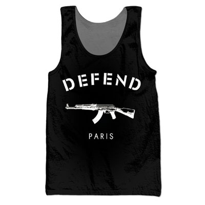★★SALE★★The international celebrities wearDefend Paris Motive Basic Point sleeveless (men and women wear · 2Color) [out of stock]