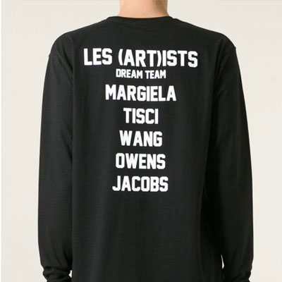 ★SALE★ Street fashion mail order |. LES (ART) IS ** st pox logo lettering long-sleeved T- shirt (2color)