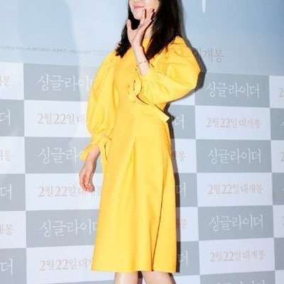 GONG HYO-JIN'S AVANT-GARDE DRESS(YELLOW/BEIGE/KHAKI/BLACK)