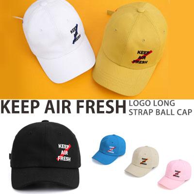 KEEP AIR FRESH LOGO LONG STRAP BALL CAP
