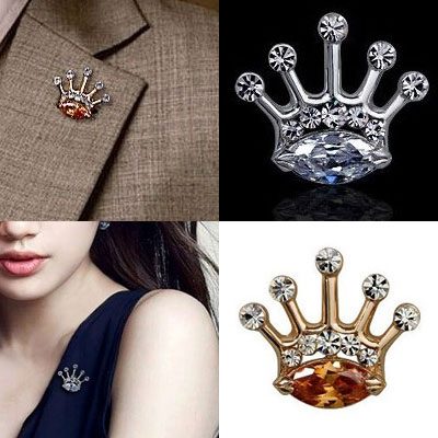 Cubic crown badge(GOLD,SIVER)