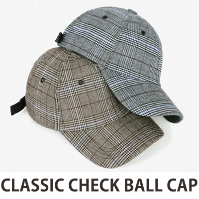 Classic Check Ball Cap(BEIGE-GREY,GREY)