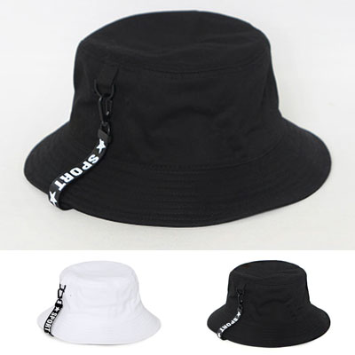 STAR LOGO TAPE BUCKET HAT/2colors