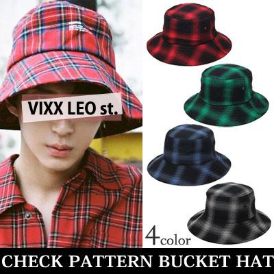 [unisex]CHECK PATTERN BUCKET HAT(4color)