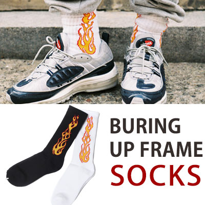 [UNISEX] BURNING UP FRAME SOCKS(2color)