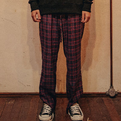 【2XADRENALINE】Basic Checked Pants / Red