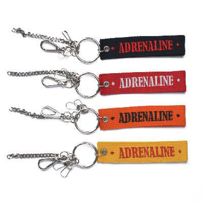 【2XADRENALINE】Signature Logo Key Ring/4COLORS