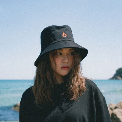 【2XADRENALINE】Flame Embroidery Bucket Hat/BLACK