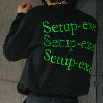 [SETUP-EXE]D-ring wave T-shirt - Neon Green