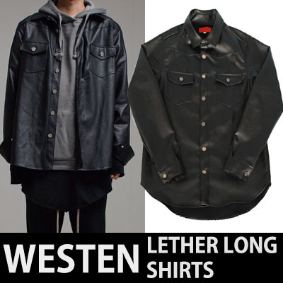 WESTERN LEATHER LONG SHIRTS