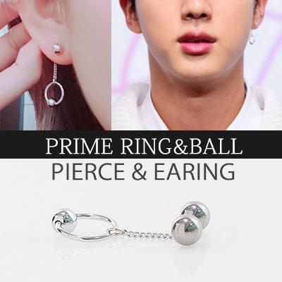 [UNISEX] BTS st.PRIME RING & BALL PIERCE & EARRING