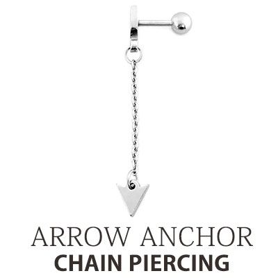 [UNISEX] [1EA]ARROW ANCHOR CHAIN PIERCING