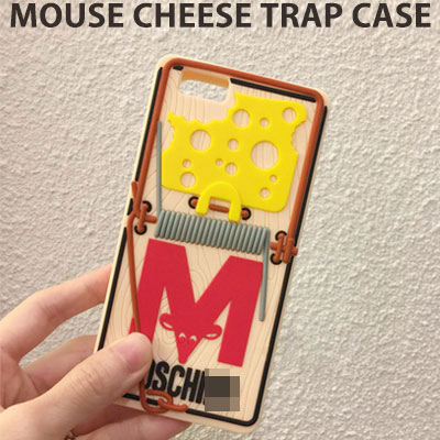 [UNISEX] MOUSE CHEESE TRAP PHONE CASE/iPHONE