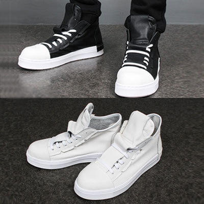 [25.5~28.0cm][Soft Real leather]genuine leather/SIMPLE LEATHER HIGHTOP SNEAKER