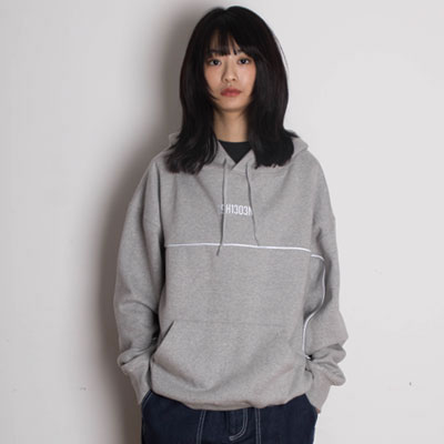 【2XADRENALINE】Scotch Light Logo Hoodie - GRAY