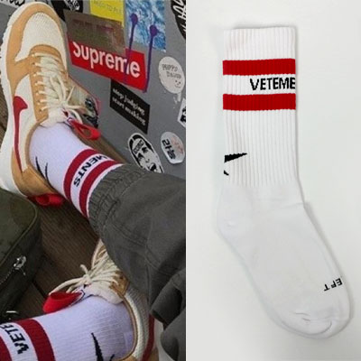 [UNISEX] 2 RED LINE BACK POINT SOCKS